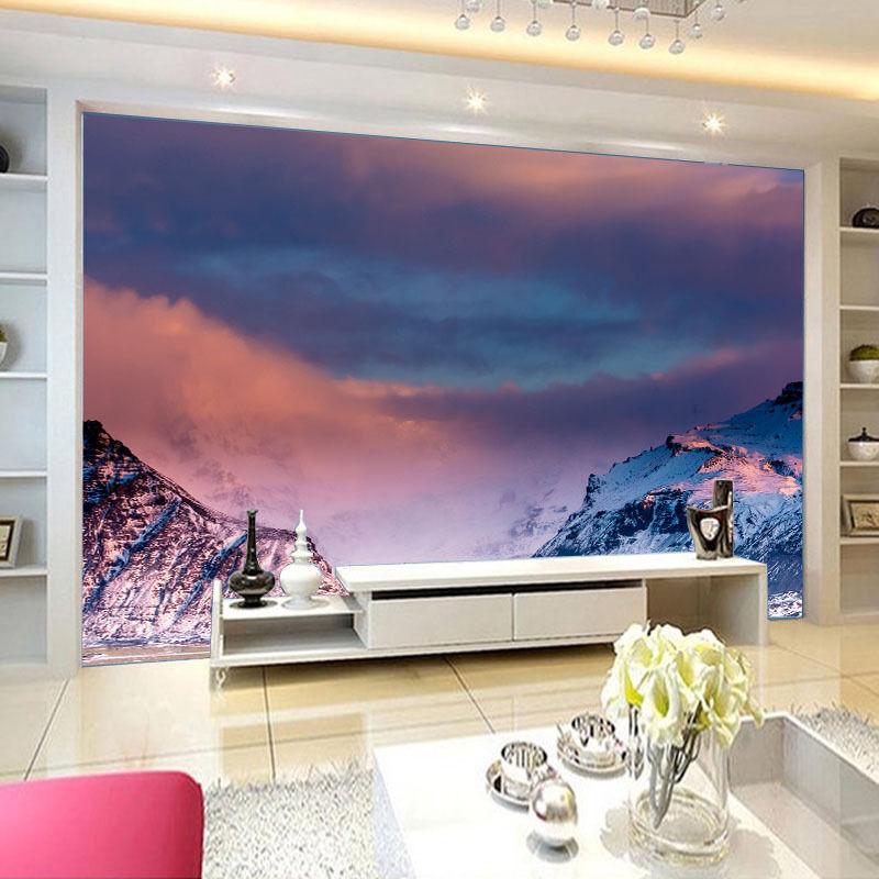 3D Montagne Neige 7 Photo Papier Peint en Autocollant Murale Plafond Chambre Art