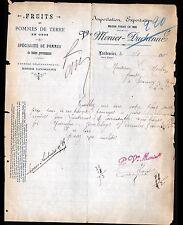 """LANDRECIES (59) FRUITS & LEGUMES """"Vve MENIER & DUCHENNE"""" en 1904"""