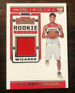 2019-20-Panini-Contenders-Rui-Hachimura-Rookie-Ticket-Jersey-Patch-Card