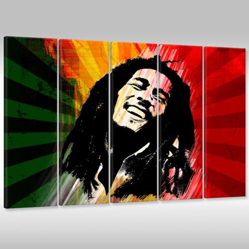 Leinwandbild Canvas Print Wandbild Kunstdruck Bob Marley Reggae Musik Rasta
