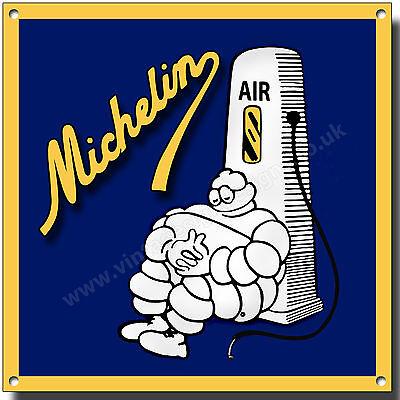 Retro Hombre Michelin Redondo de Metal Señal Clásico British Neumáticos Garaje