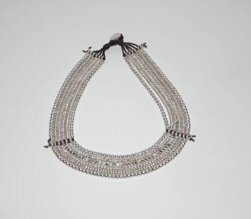 hecha de mano multipal capas,uno diferente de 50 collar de cuero y zamak