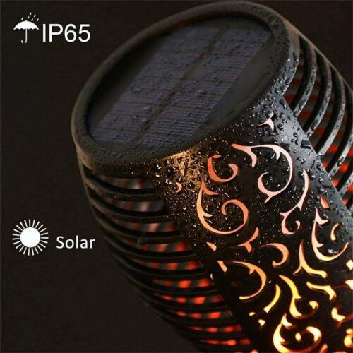 Outdoor Solar Garden Flame 12LED Light Flickering Torch Lamp Waterproof 2//4//6 PC