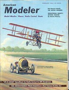American Modeler Magazine February 1960 Pete Bowers VG No ML 040517nonjhe