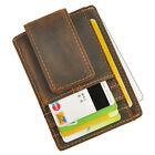Men Genuine leather Cowhide Money Clip Card Case Holder Slim Wallet Front Pocket