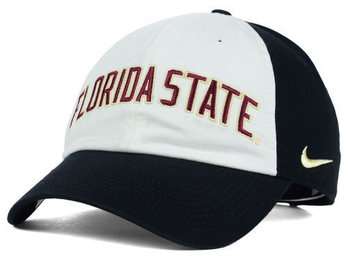 Florida State Seminoles Nike Heritage 86 Wordmark Adjustable Cap Black/White NWT