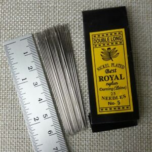 2x-50-Pcs-No-5-Double-Long-Hand-Sewing-Needles-Assorted-Handcraft-Best-ROYAL