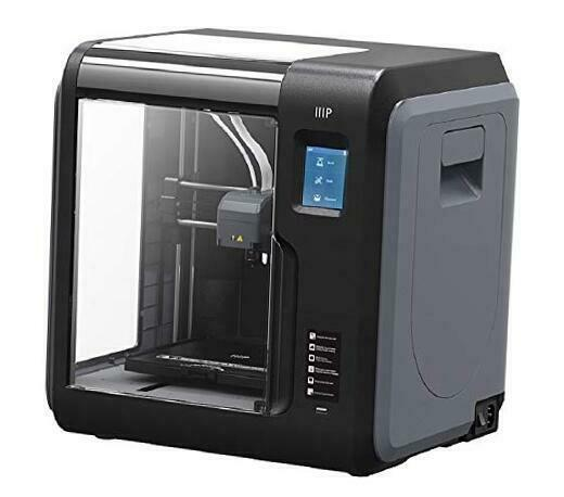 Voxel 3D Printer - Black/Gray with Removable Heated Build Plate Gray/Black