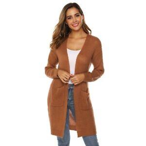 Jacket-Womens-Outwear-Knitted-Long-Sleeve-Long-Cardigan-Sweater-Loose-Coat