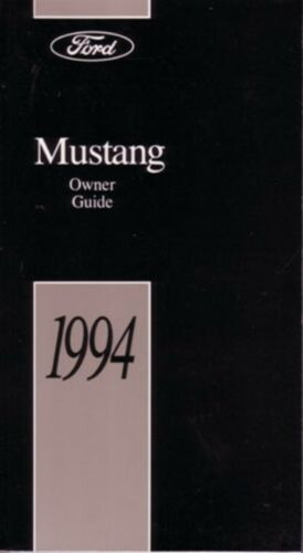 1994 Ford Mustang Owners Manual User Guide Reference Operator Book ...