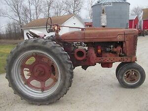 Details about 1947 Farmall M tractor M&W MW hand clutch PTO lights work  runs great belt pulley