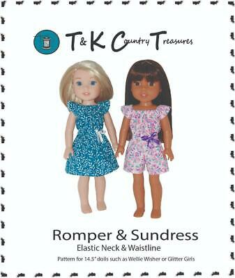 "Sewing Pattern for 14.5/"" Wellie Wishers Doll Clothes by TKCT Short jacket set"
