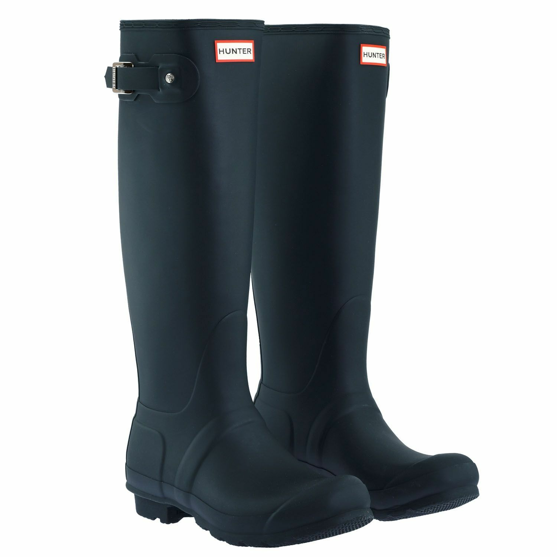 Hunter Women's Navy Original Tall Rain Rain Rain Boots -NEW IN BOX- 00019a