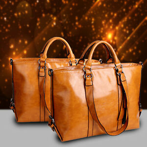 New-Women-Large-Leather-Tote-Bag-Commute-Handbag-Shoulder-Satchel-Bag-Elegant