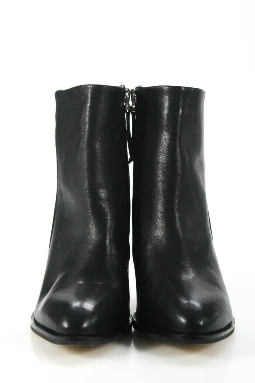 Suncoo Womens High Heel Booties Hanya Black Leather Zip Size 37 7