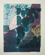 Vintage 2006 MAT DALY S/N Abstract Pop Art Monoprint Serigraph