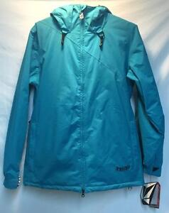 Volcom-Women-039-s-Yale-Insulated-Snowboard-Winter-Jacket-Peacock-Blue-Large-NEW