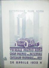 * Regolamento Gran Premio del Decennale - Criterium Mondiale degli Assi 1932 *