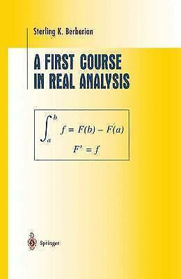 First Course in Real Analysis by Berberian, Sterling K.-ExLibrary