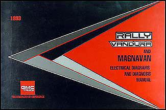 1993 GMC G Van Wiring Diagram Manual 93 Vandura Rally ...