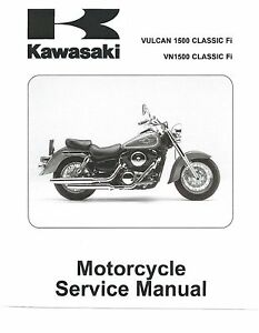 kawasaki service manual 2001 vulcan 1500 classic fi vn 1500 classic rh ebay com kawasaki vn1500 service manual free download kawasaki vn 1500 repair manual download