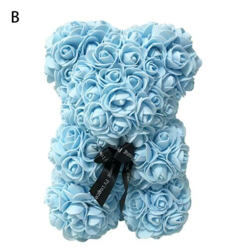 Rose Bear Doll Simulated Waterproof PE Flower Valentine/'s Day Decoration 25CM