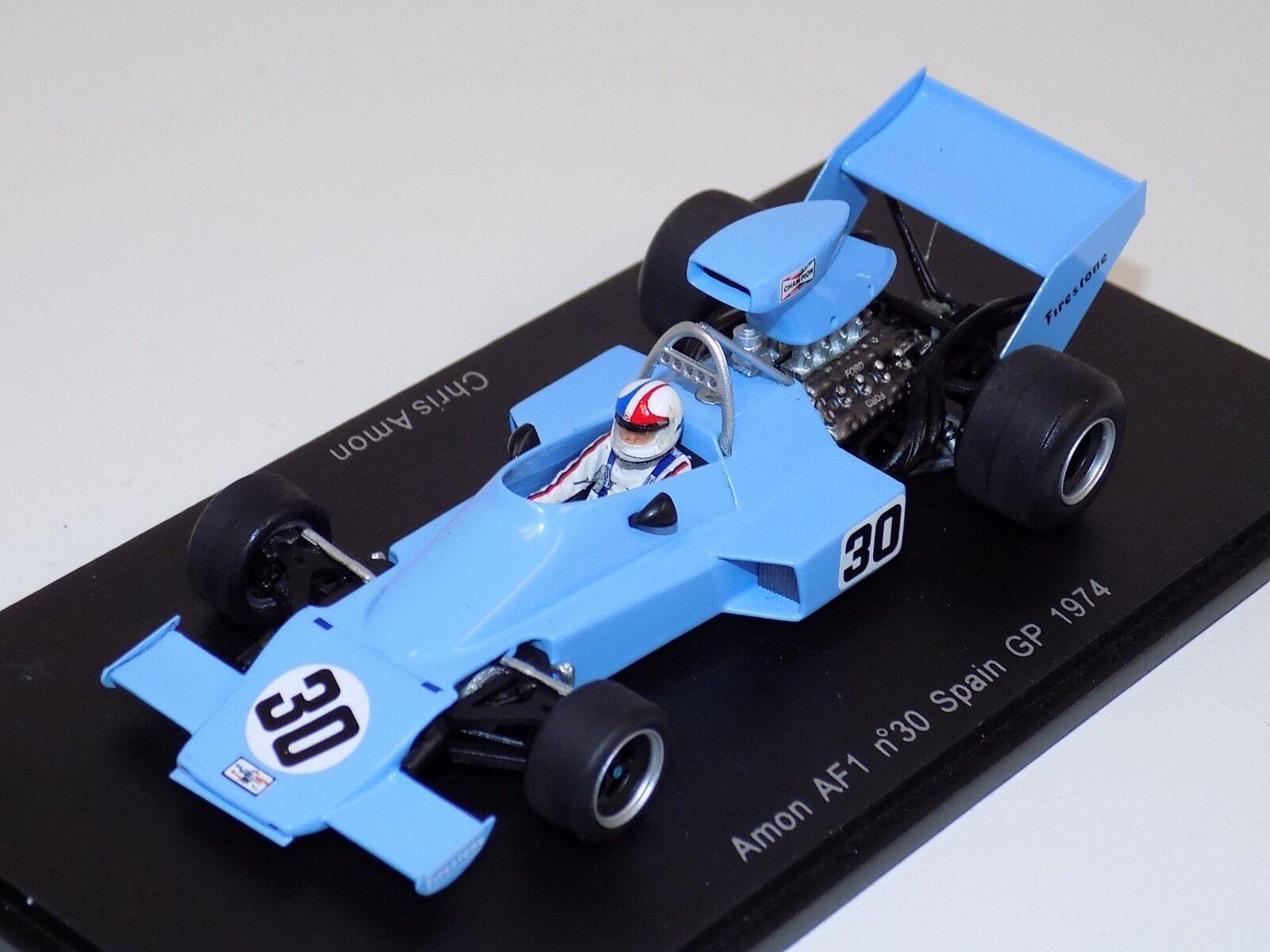1 43 Spark Amon AF1  car Spanish  GP Chris Amon  S3890