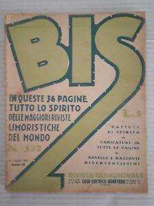 Bis-n-122-anno-1931-Giornale-Umoristico-Caricature-Novelle-e-racconti