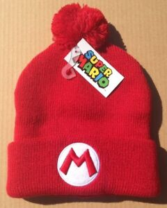 e978424d5bc Nintendo Super Mario Bros Pom Beanie Winter Hat EMBROIDERED Cap ...