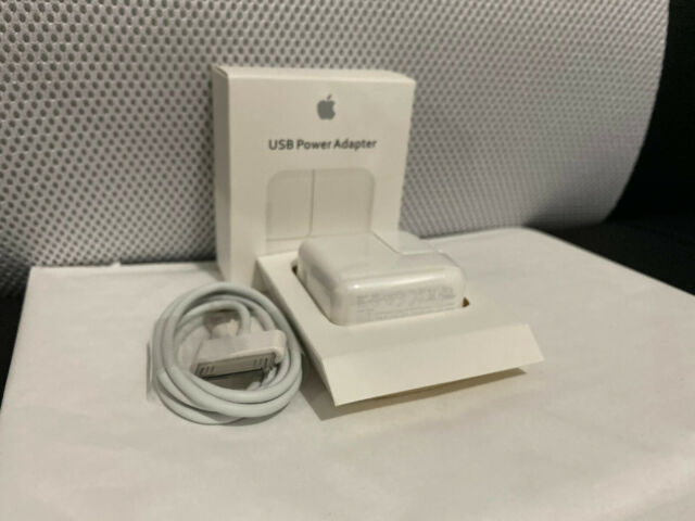 Original Genuine Apple iPad 1 2 3 4 Mini Air 12W USB Power Charger A1401 Cable