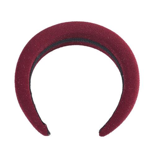 Ladies Padded Headband Hairband Plain Sponge Alice Hair Band Accessories Party