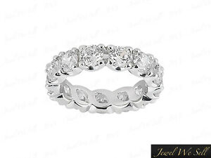 Natural-2-85Ct-Round-Diamond-U-Prong-Anniversary-Eternity-Ring-18K-Gold-F-VS2