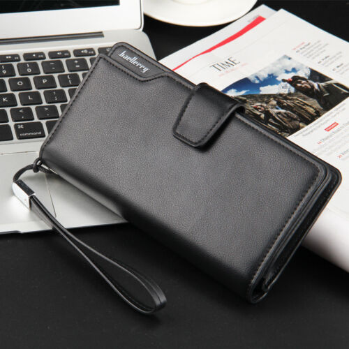 Men Wallet Leather Purse Mans Wallets Big Capacity Credit Crad Holders Bag Money