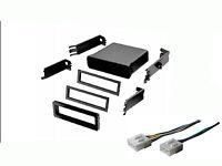 Mazda Universal Radio Stereo Install Mount Pocket Install Dash Kit Wire Harness on sale