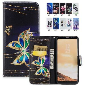 PU-Leather-Book-Folio-Card-Slot-Stand-Case-Wallet-Flip-Cover-For-Samsung-Galaxy