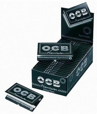 10 Heftchen OCB Schwarz N° 4 Papier Doppel Zigarettenpapier Blättchen Papers