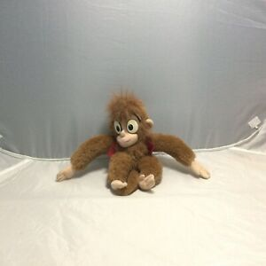 "Disney Mattel Abu 9"" Aladdin Movie Plush Doll Monkey Vintage Stuffed Animal  90s"