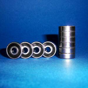 10 Rodamiento SS 688 2RS / 8 x 16 x 5 mm / Acero inoxidable