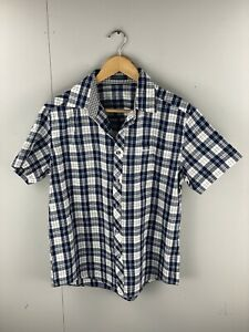 Polo Villae Men's Short Sleeve Shirt - Size 52 (Large) - Blue White Check
