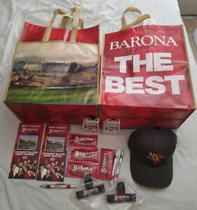 Lot-of-17-Barona-Casino-Memorabilia-Bags-Cards-Hat-1-Free-Pho-Clips-Wipes