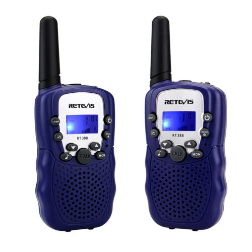 Blau Walkie Talkie Retevis RT-388 UHF 446 MHZ 8 Kanal Flashlight Funkgeräte DE