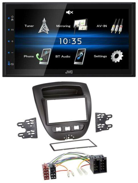 05-14 JVC 1DIN AUX USB MP3 Autoradio für Citroen C1 Peugeot 107