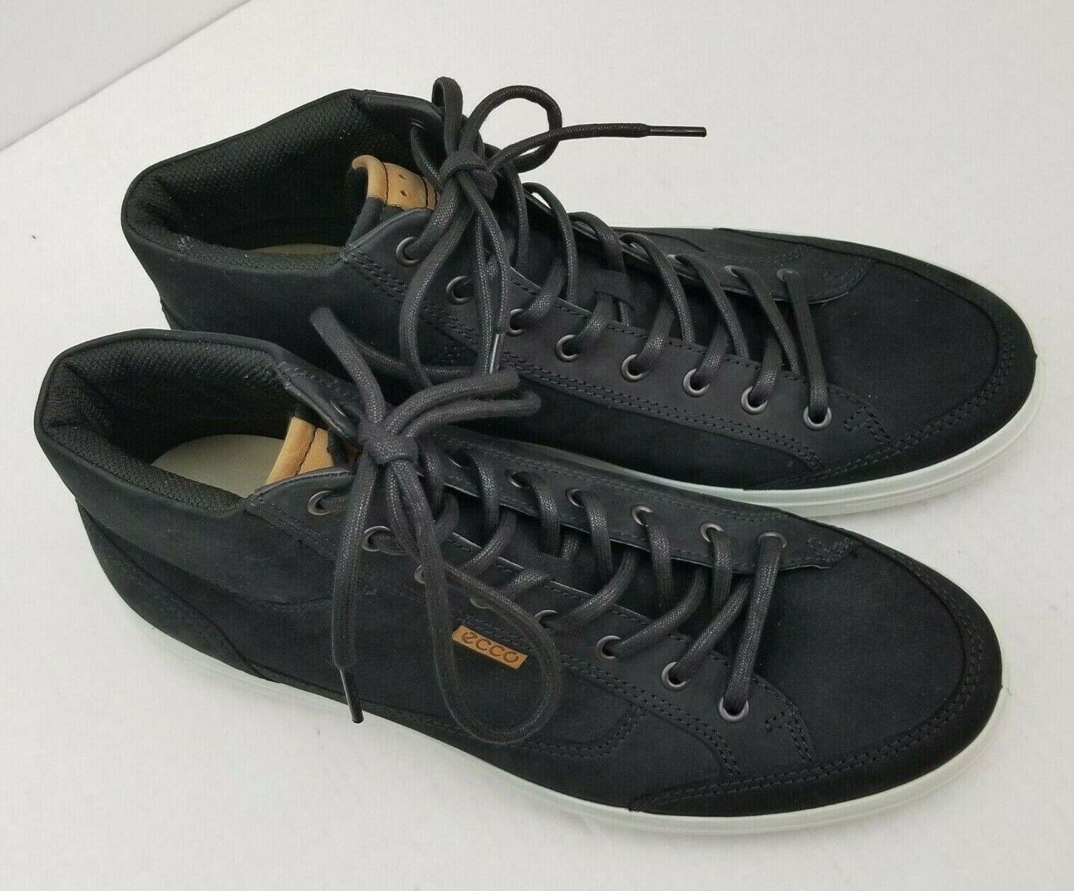 ECCO Suave 7 High Top Zapatillas para hombre de EE. UU. () aceite nobuck negro