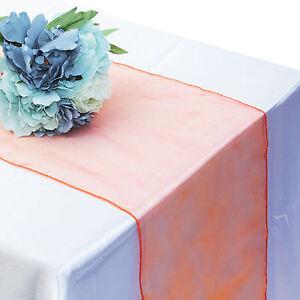 30x275-Coloured-Organza-Table-Runner-Chair-Sash-Wedding-Party-DIY-Fabric-Decor