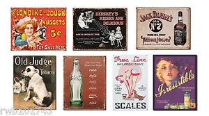 Vintage-Retro-Advertising-TIN-SIGN-LOT-metal-poster-home-bar-garage-wall-decor