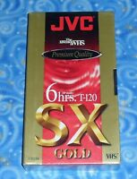 Jvc Premium Quality T-120 Sx Gold Blank Vhs Tape 6 Hours In Sealed Condition