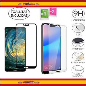 Protector-de-Cristal-Templado-Completo-9H-para-Huawei-P20-Lite-Elije-Color