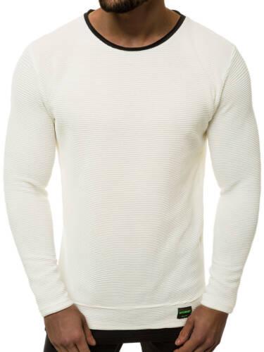 Sudadera Jersey de manga larga camisa cuello redondo sweatjacke Basic ozonee 2141//19 caballeros