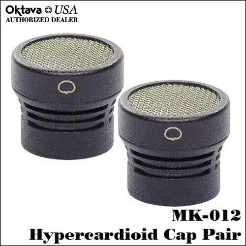 Free Shipping! Black Hypercardioid Capsule Stereo Pair New Oktava MK-012