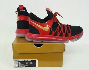 new style ffa46 6b45a Image is loading Nike-Zoom-Kevin-Durant-KD10-GS-Youth-Basketball-